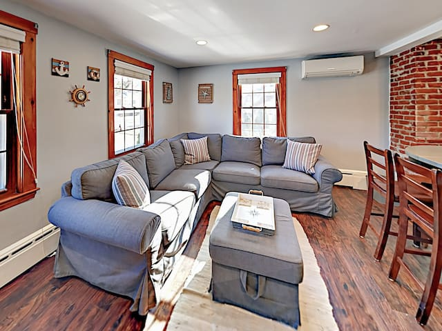 Great for groups, the living space serves as the social heart of the home.