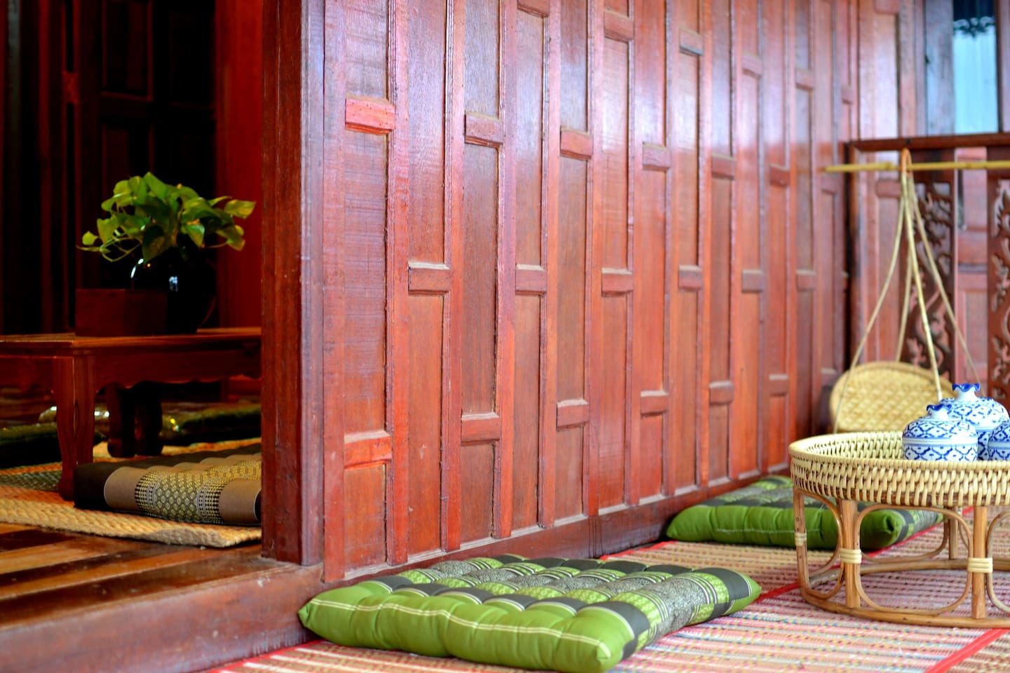 Private Thai Traditional House in Coconut Farm