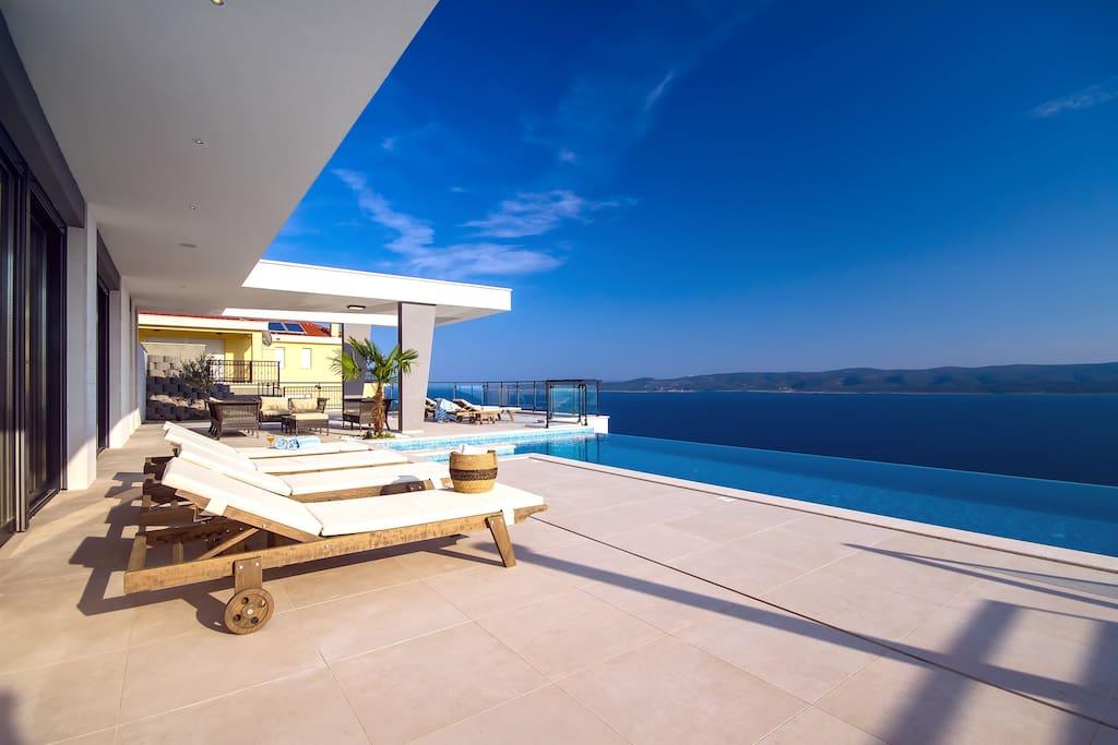 Villa Avior with amazing sea and island views
