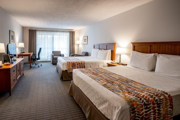 Chambre confortable 2 lits à Orford -accès piscine