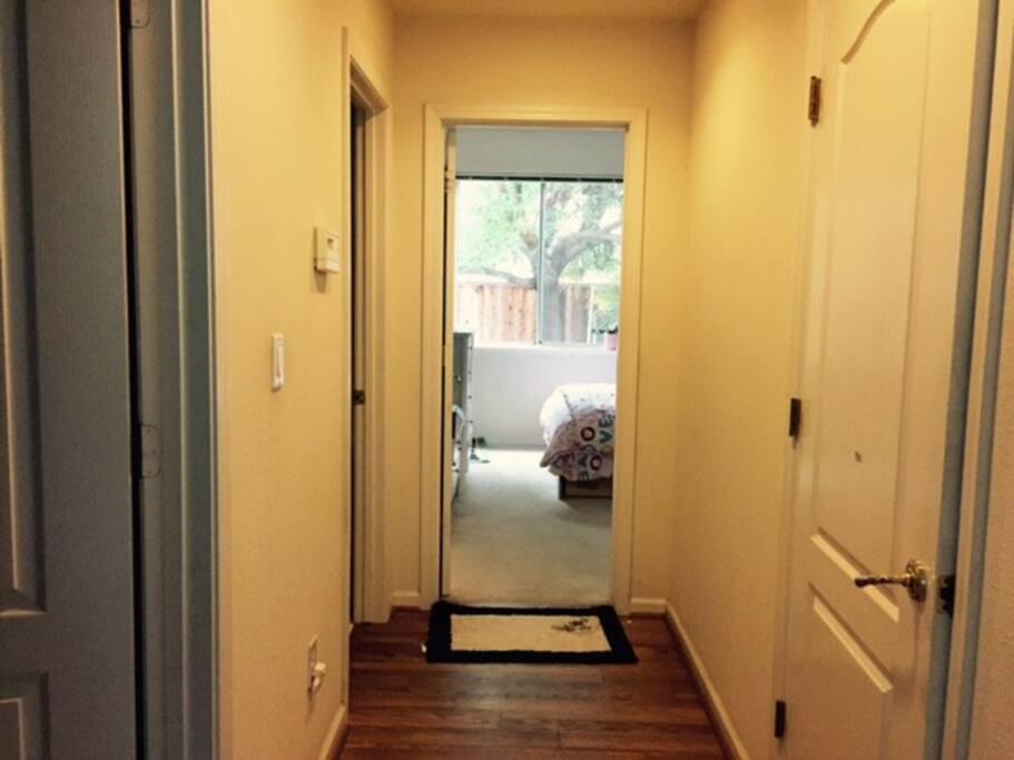 door to the master bedroom