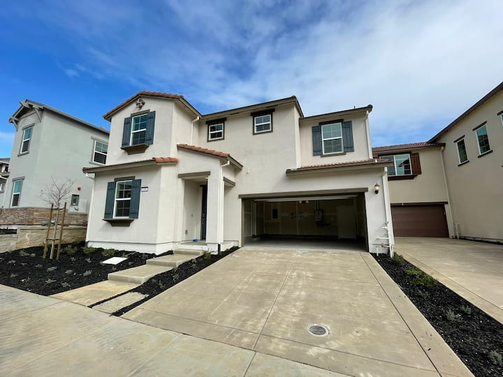 New Spanish architectural styled house in Gilroy.