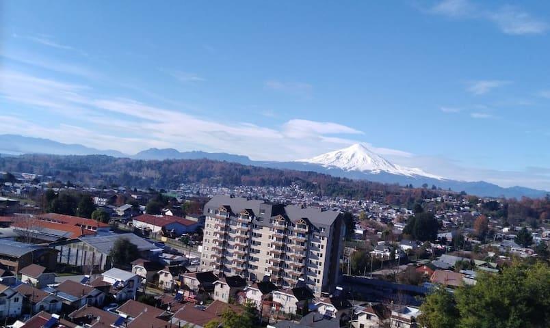 Hermoso departamento con vista al volcán y al lago