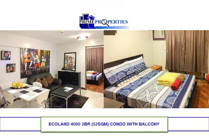 2BR Ecoland Davao Condo w/ Fast Internet & HDTV - Davao City - 公寓