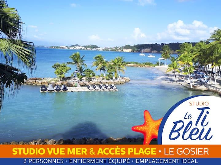 Le Ti Bleu • Studio vue mer & accès plage
