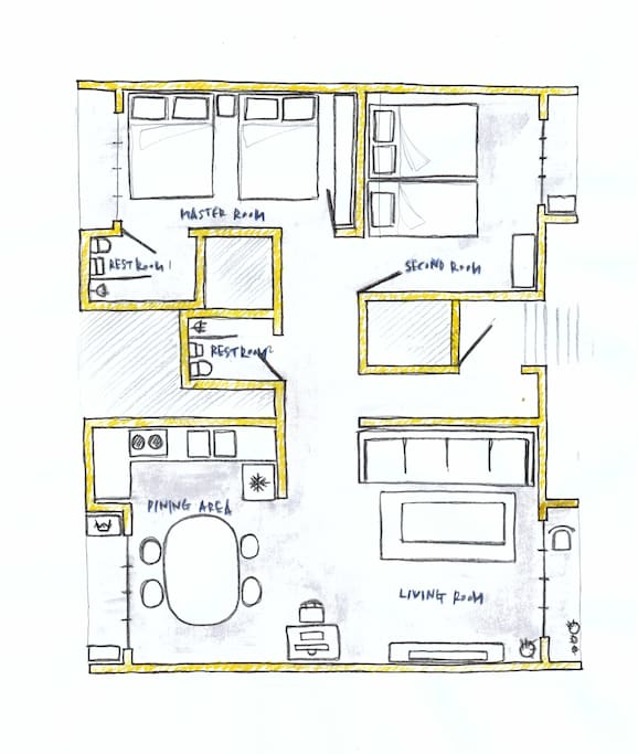 Floor plan - layout of the rooms