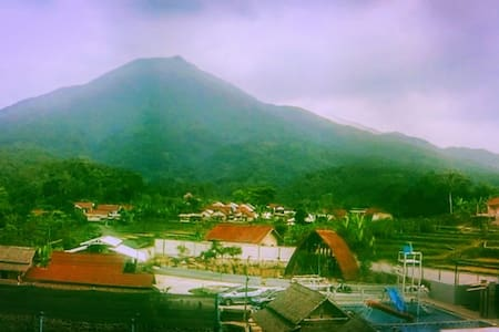 Istal Village with Background Salak Mountain