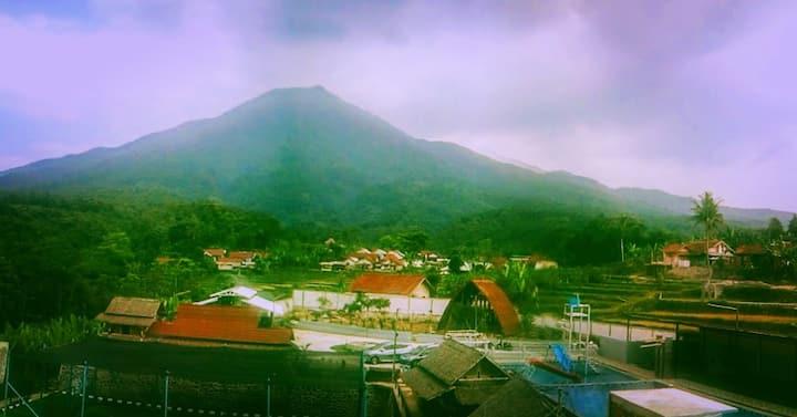 Istal Village with Background Salak Mountain