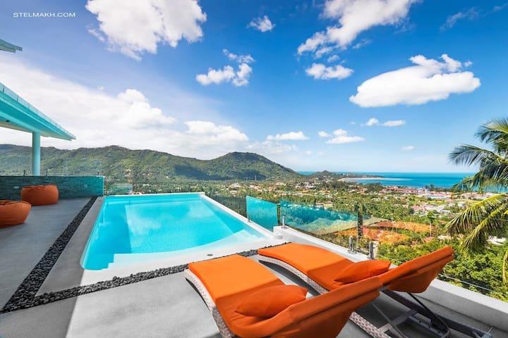 Luxury 450 sqm villa in Lamai - Maid twice a week