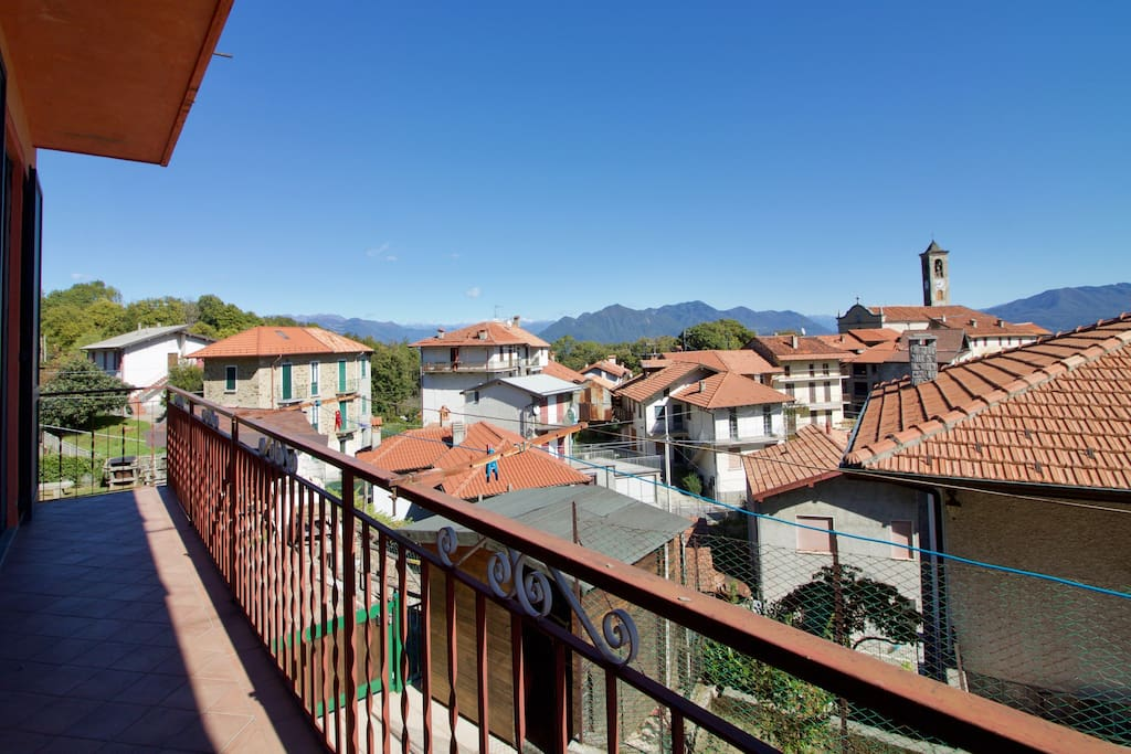 View from the balcony and living room