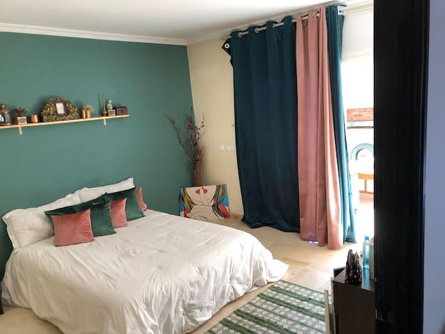 Beautiful Room + Terrasse In A Villa in Hay Riad