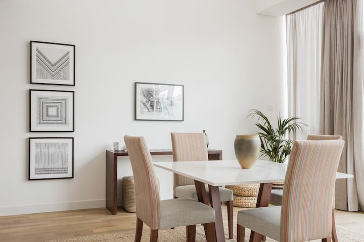 Elegant dining area for four