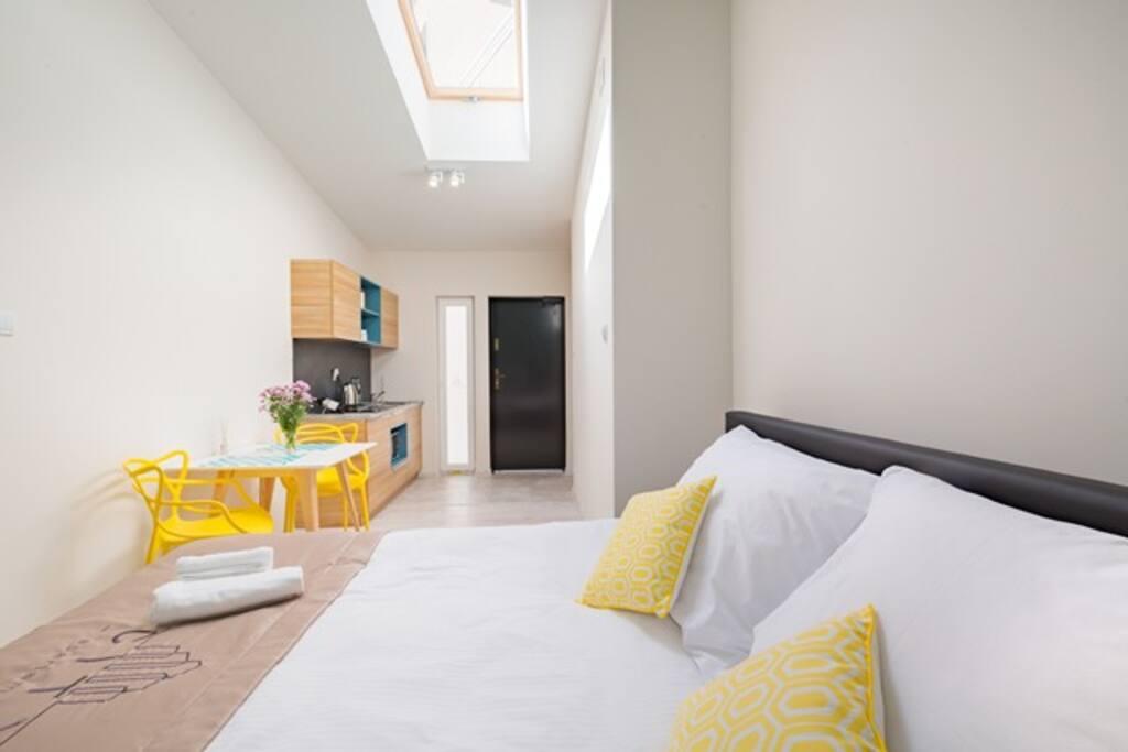 Szmaragd - duże podwójne łoże