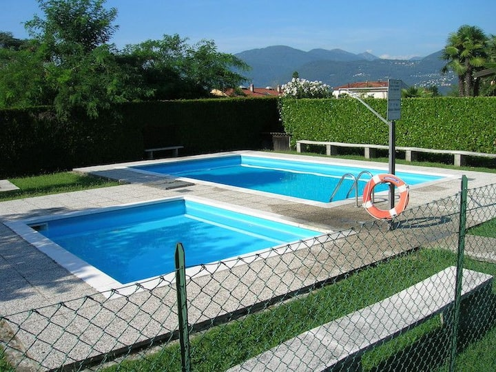 Nicole 1 apartment located in a residential complex with swimming pool