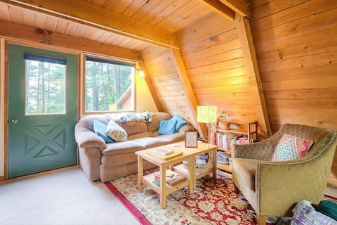 Douglas Island A-frame Cabin in the woods