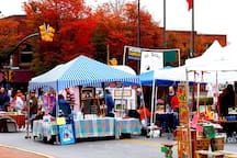 Art/street festivals almost every weekend in Waynesville, Asheville and surrounding towns.