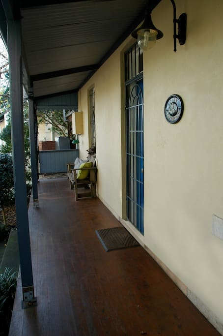 Verandah at front of house