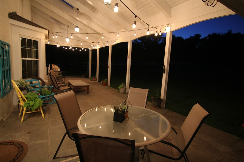 Backyard veranda - dusk