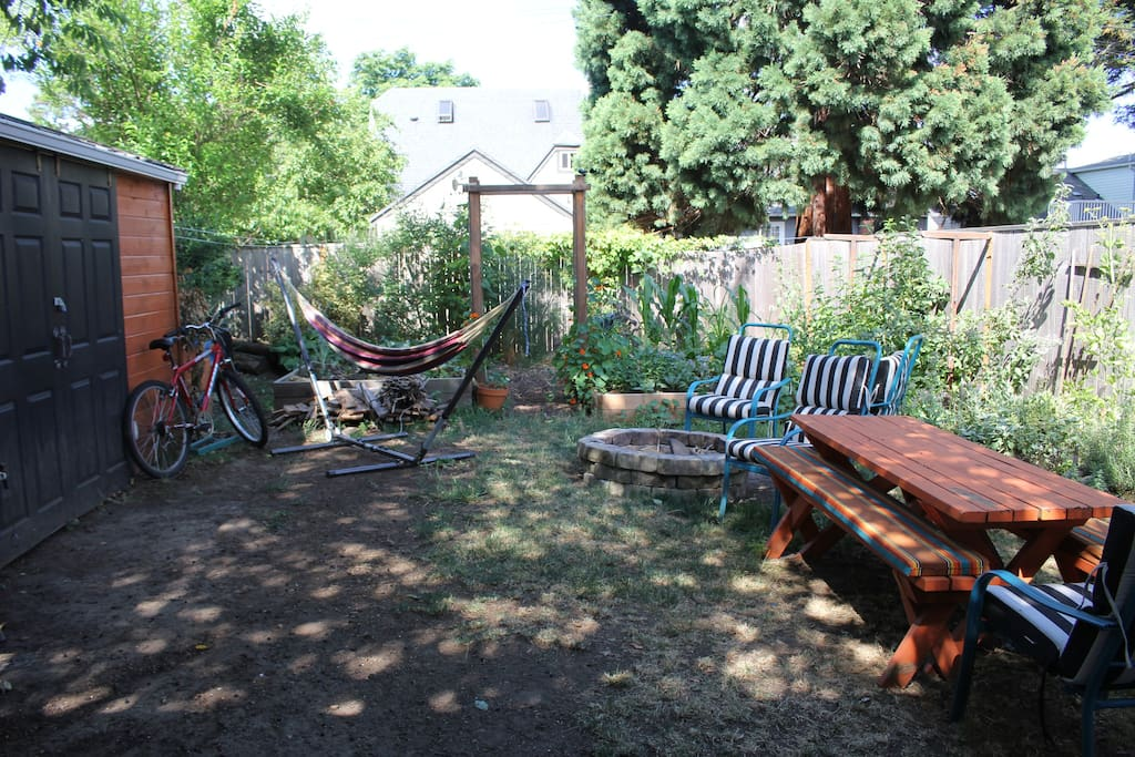 The backyard! (currently under construction, to be completed before any guests stay)