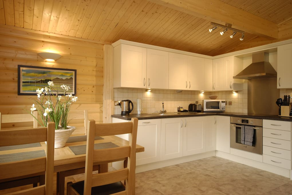 Dining area/kitchen in your lodge.