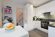 Our kitchen/dining room is a perfect size with class layout and modern fittings