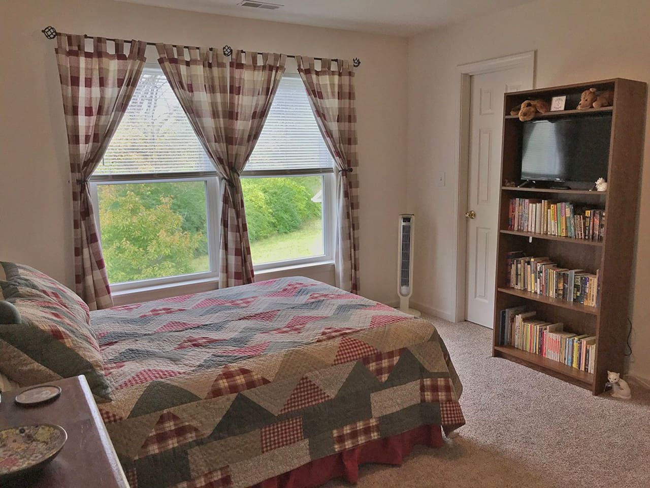 Private bedroom with wooded view