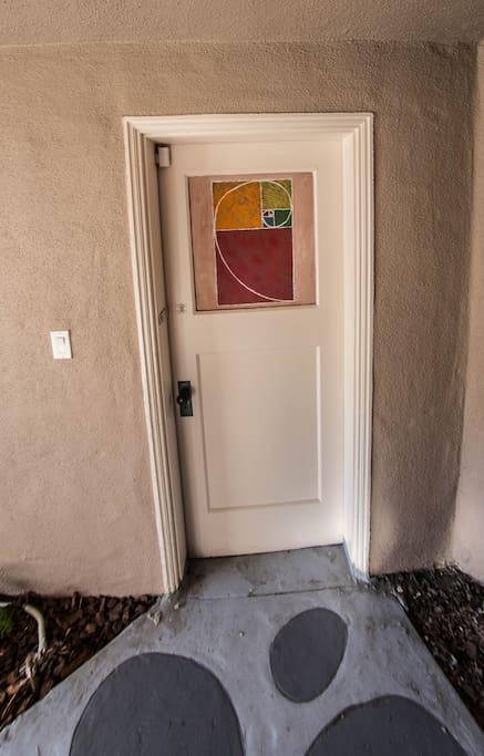 side door to garage
