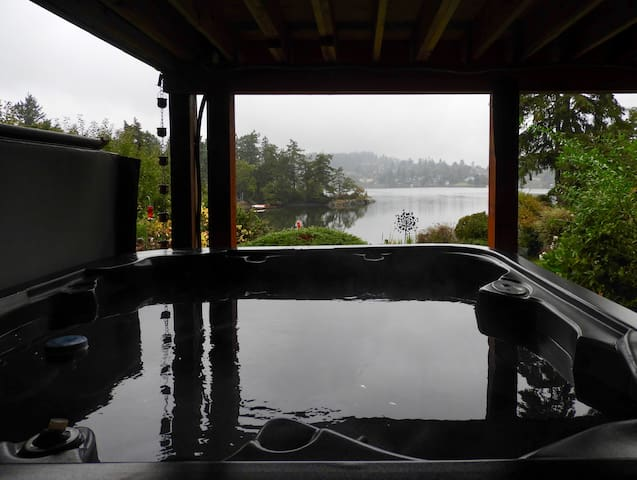 Sigh.... Calgon, take me away....! A misty morning from the hot tub. Have some coffee and let the jets work their magic.