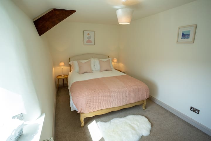 French style King sized bed in main bedroom