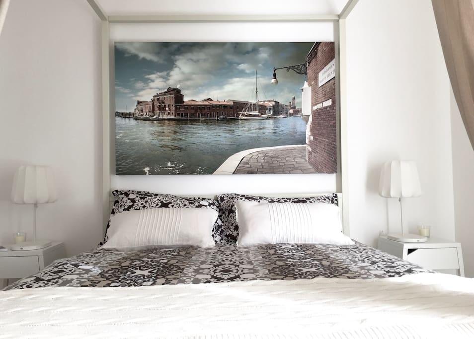 Letto a Baldacchino Matrimoniale Camera Ambra Home Gallery