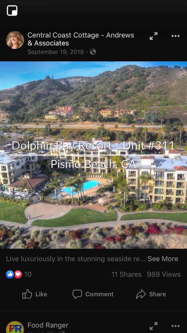 Ocean front Condo with heated pool and restaurant