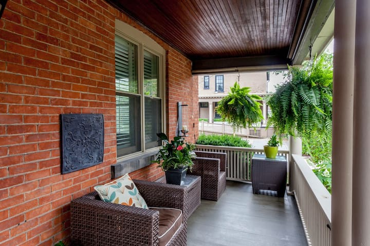 Relax on the front porch with your coffee or glass of Niagara wine & your favourite book