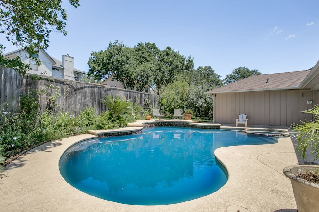 Swimming Pool and little backyard