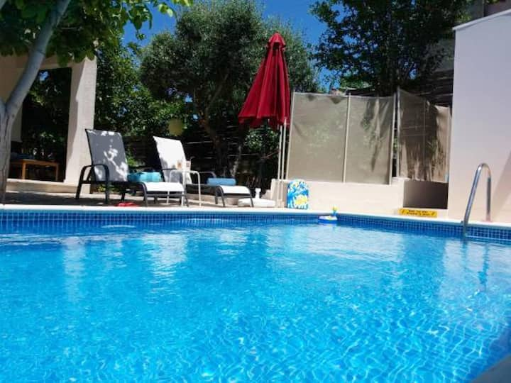 House with 3 bedrooms in Kritou Tera, with wonderful sea view, private pool, enclosed garden - 10 km from the beach