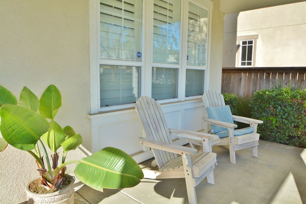 Soak up the sun while relaxing in these cozy chairs