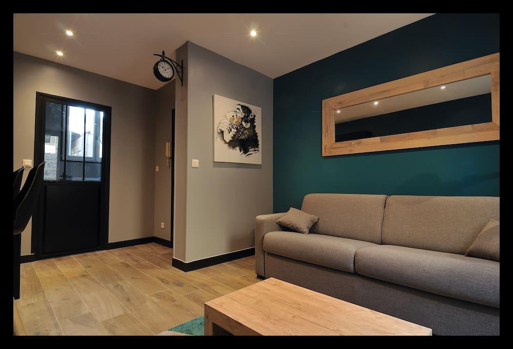 dormir au havre st vincent plage wifi fibre. Black Bedroom Furniture Sets. Home Design Ideas