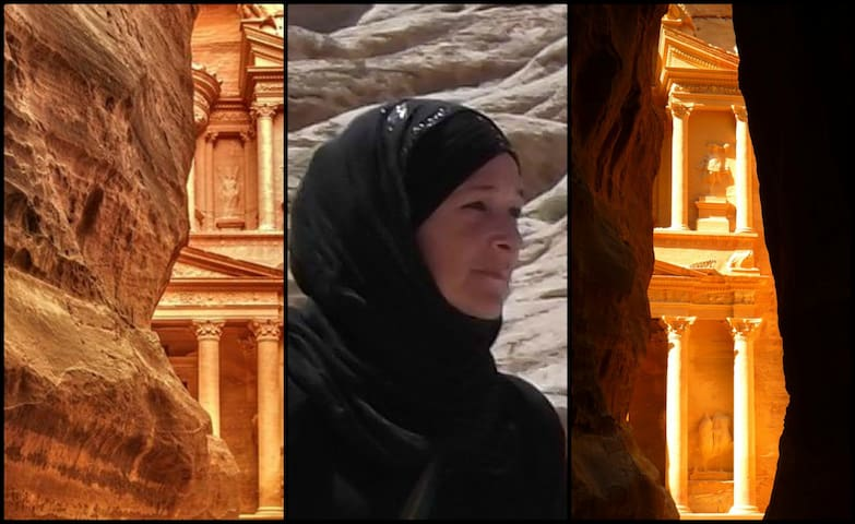 Maryam, your host in Wad Musa - Petra