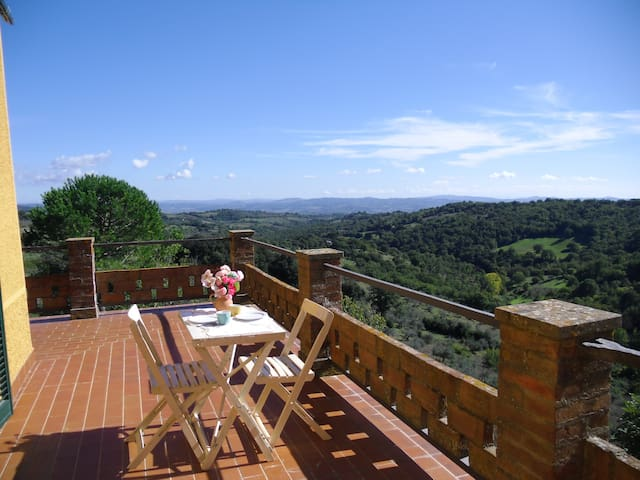 Countryhouse IL LUOGO,1 fl., Scansano,near the sea - Scansano - Apartment