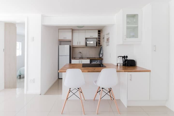 New clean and modern apartment with patio
