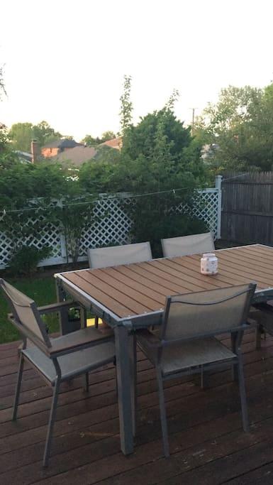 enjoy your dawn or dusk with the beautiful spacious backyard facing the whitestone bridge.