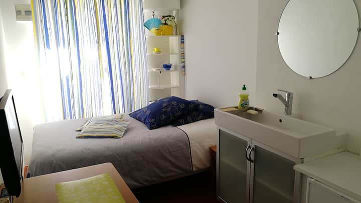 Chambrette d'Hôte sous les toits, climatisée.