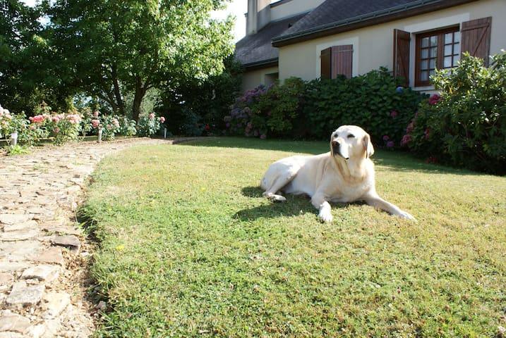 Maison au calme avec grand jardin
