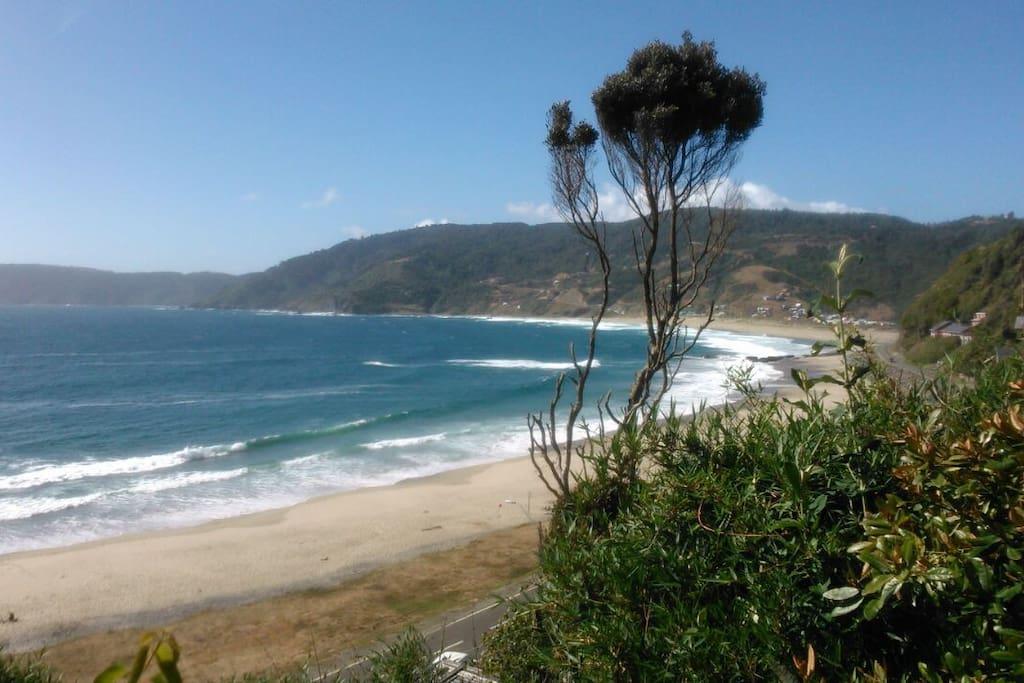 Playa de Pucatrihue vista desde la casa