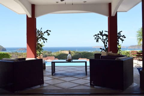 Ocean view single floor house with private pool