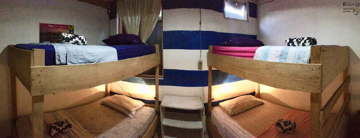 4 beds in Dormitory Room in bluefields downtown