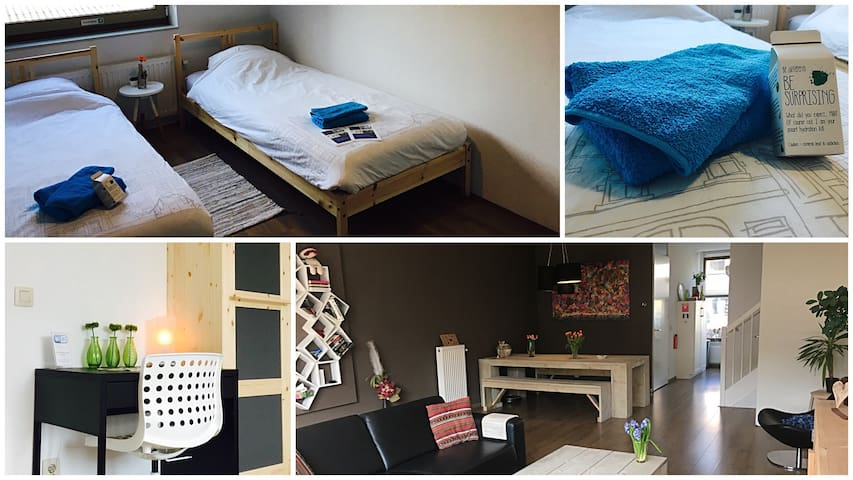 Comfortable twin room in hospitable BnB in Meppel - Meppel - บ้าน