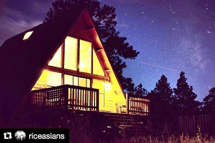 Instagram #aframeflagstaff   Flagstaff is a dark sky community.  Best stargazing in the west.