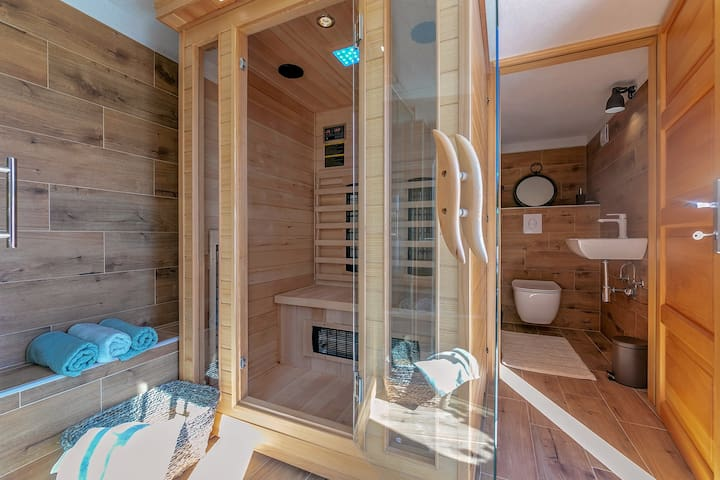 Additional Bathroom under the Terrace with Sauna