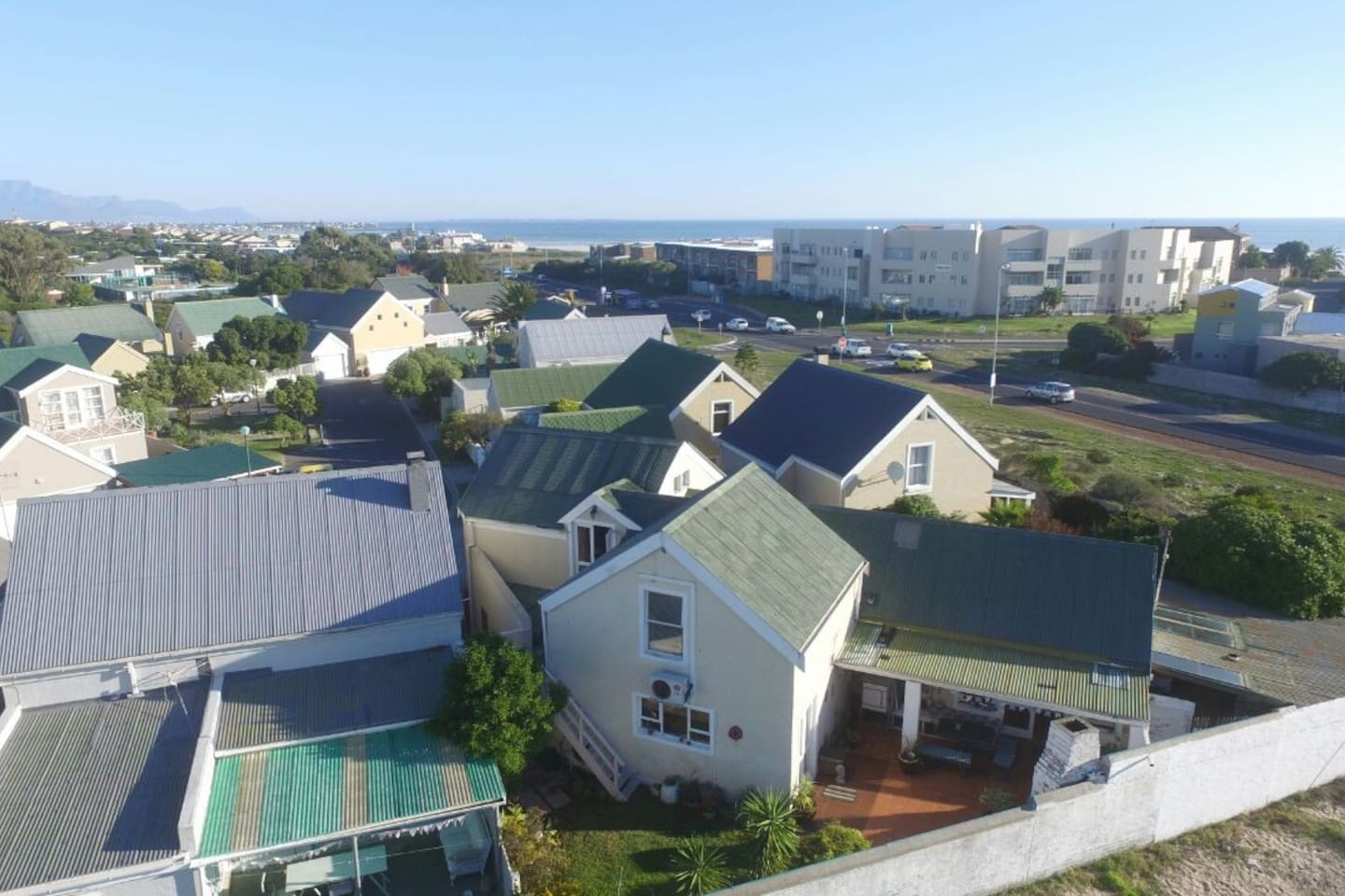 view from above towards the beach.