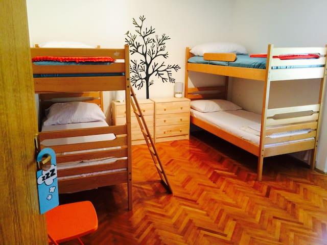 Novalja center- house orange room